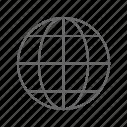 globe, map, navigation icon