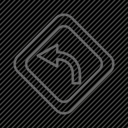 arrow, left, map, navigation icon