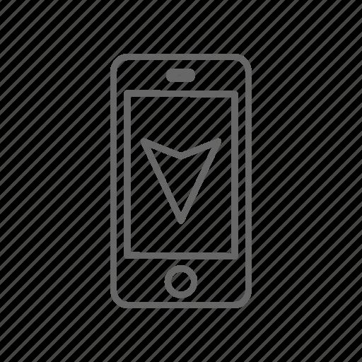 map, navigation, phone icon