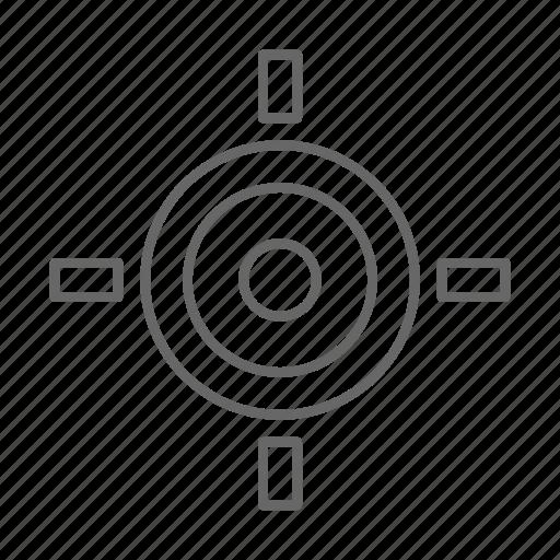 map, navigation, target icon