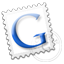 gmail, google, grey, stamp icon
