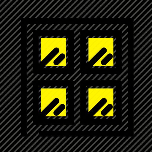 building, construction, window icon