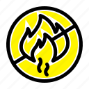construction, fire, no icon