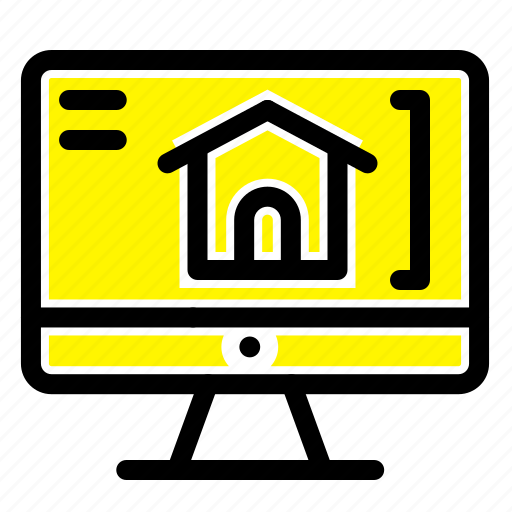 computer, home, house icon