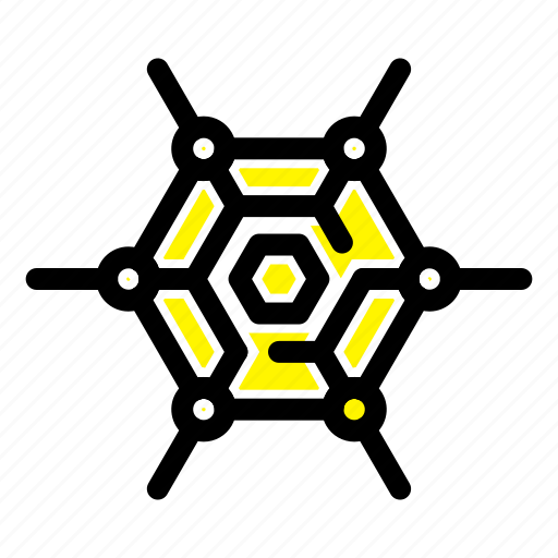 decentralized, network, technology icon