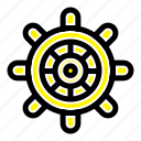 boat, ship, wheel