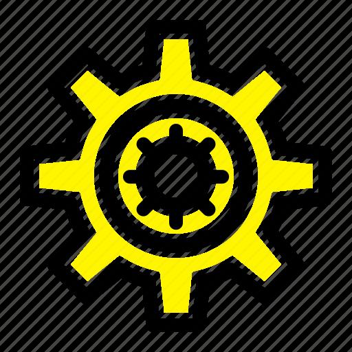 gear, motivation, setting icon