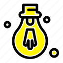 bulb, light, motivation icon