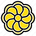flower, gras, mardi, sunflower icon