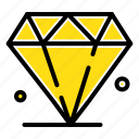 jewl, diamond, gras, mardi icon