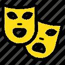 gras, mardi, masks, roles, theater