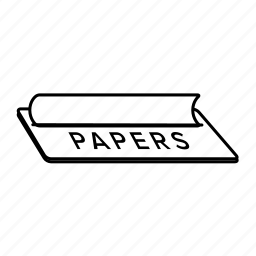 cannabis, hemp, marijuana, paper, papers, rolling, weed icon