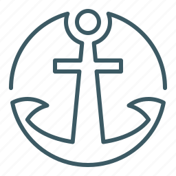 anchor, marine, sailor, ship icon