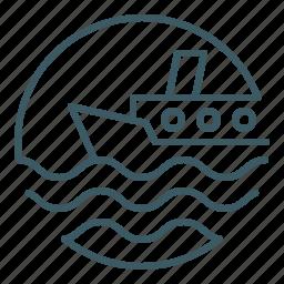 boat, marine, ocean, sailor, sea, ship, travel icon