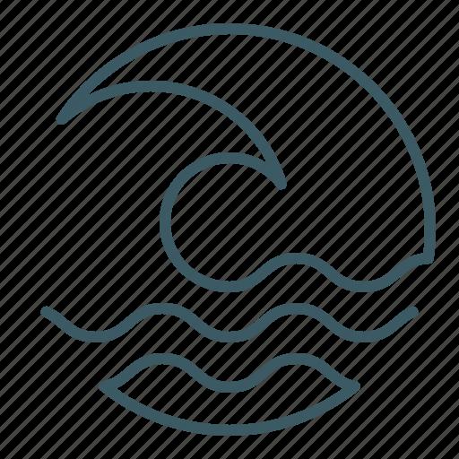 ocean, sea, surfing, tidal, tsunami, wave icon