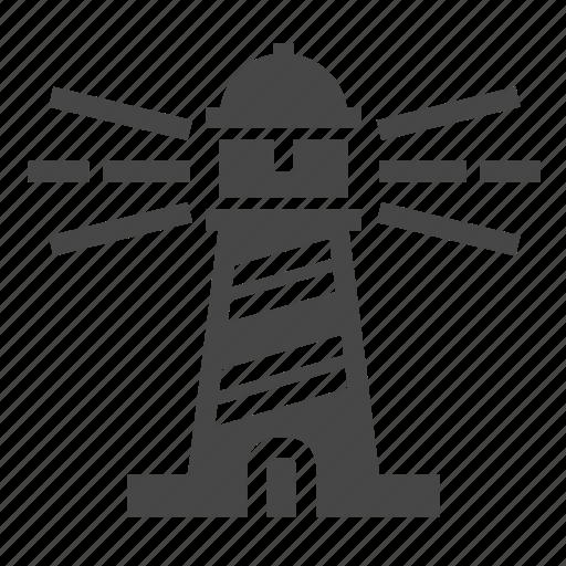lighthouse, marine, nautical icon