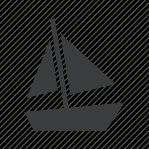beach, boat, nautical, sail, sailing, sea, yacht icon