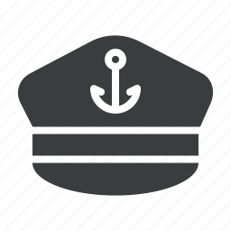 captain, hat, marine, nautical, sail, ship, vessel icon