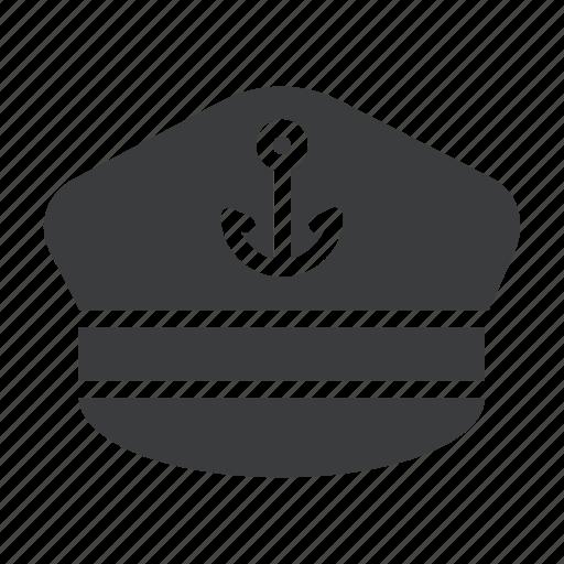 captain, hat, marine, nautical, sail, ship, vessel icon