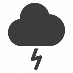 cloud, forecast, lightning, rain, thunder, weather icon