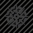 compass, direction, location, navigation, ocean, sea, ship icon