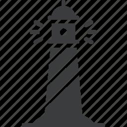 direction, light, lighthouse, nautical, navigation, ocean, sea icon