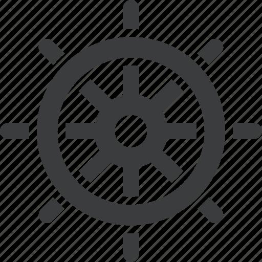 direction, nautical, ocean, sea, ship, steer, wheel icon