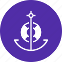 anchor, lifebuoy, marine, nautical, ocean, sail, ship icon