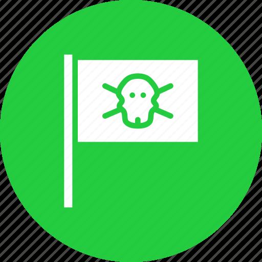 boat, flag, nautical, ocean, pirate, sail, ship icon