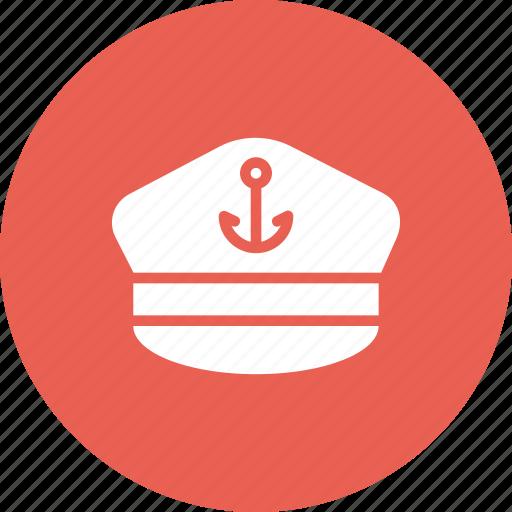 accessory, captain, hat, marine, sail, ship, vessel icon