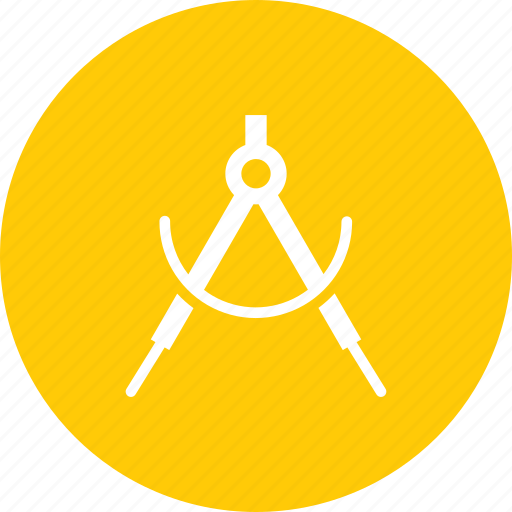 compass, device, drafting, draw, tool icon