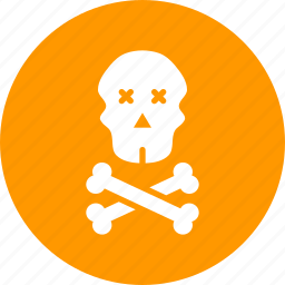 caution, crossbones, danger, death, pirate, skull, warning icon