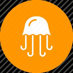 fish, jellyfish, marine, sea, water icon
