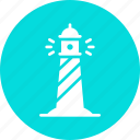 direction, light, lighthouse, nautical, navigation, ocean, sea icon