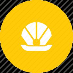 clam, marine, mollusc, oyster, pearl, sea, shell icon