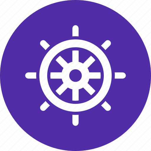 direction, nautical, ocean, sea, ship, steer, wheel icon
