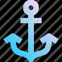 anchor, aquatic, marine, naval, sea