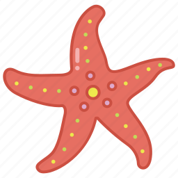 fish, marine, sea, star, starfish, tank, tropical icon