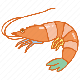 crustacean, fish, market, ocean, prawn, seafood, shrimp icon