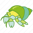 crab, fish, hermit, pet, sea, shell, tank icon