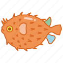 aquarium, blowfish, fish, puffer, pufferfish, tank, toadfish icon