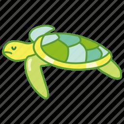 aquatic, life, marine, sea, seaturtle, turtle icon