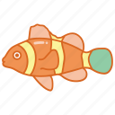 aquarium, clown, clownfish, fish, nemo, reef, tropical icon