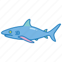 animal, danger, ocean, predator, sea, shark icon