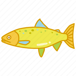 aquaculture, atlantic, farming, fish, fishing, salmon, trout icon
