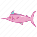 fish, fishing, marlin, sport, sword, swordfish icon