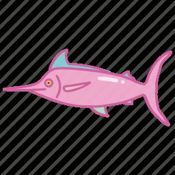 fish, fishing, marlin, sport, sword, swordfish icon