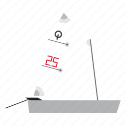 boat, dinghy, optimist, sail, sailboat, sailing, transport icon