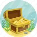 chest, gold, money, pirate, treasure icon