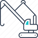 construction, crane, maritime, transport icon